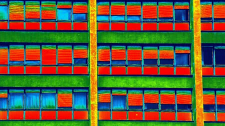 thermography : Infrared thermovision video showing lack of thermal insulation on Residential building, Full HD