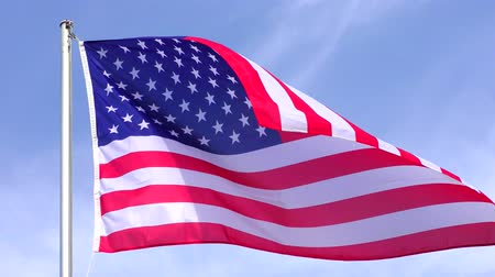 old glory : American Flag Waving in the wind, 4Kvideo