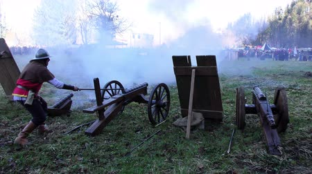 salvo : Salvo of Cannons shot, 4K video