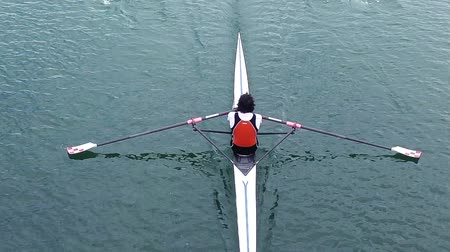 veslování : Athlete rower rowing, slow motion full HD video Dostupné videozáznamy