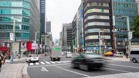 vdo : Ginza, Tokyo, Japan- February 6, 2019: 4K time lapse video of Pedestrians tourists and shoppers walking on Ginza street at Ginza district, famous for its shopping.