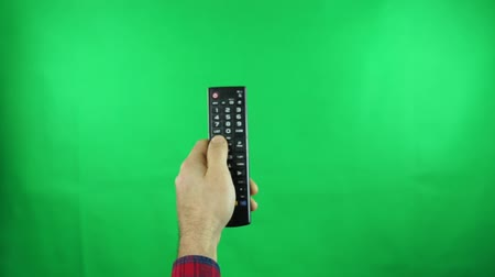 Surfing television channels green screen
