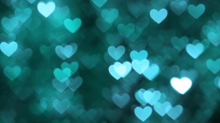 cián : Abstract heart bokeh background blue color