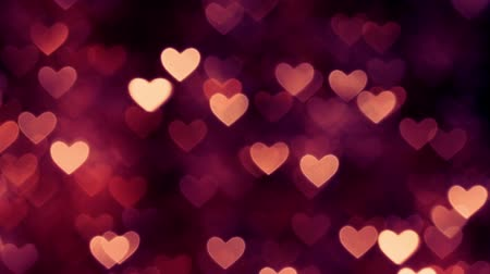 マゼンタ : Abstract heart bokeh background red color 動画素材