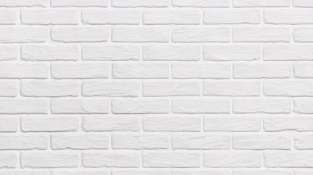alargamento : white brick wall background zoom effect Stock Footage