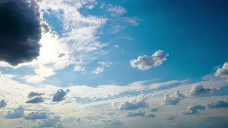 rosszkedvű : Dark blue sky with clouds for background or texture
