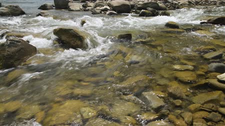 karpaty : Closeup view of beautiful mountain river in summer day, Black Cheremosh, Ukraine. Fast flowing water and rocks