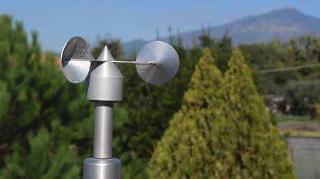 alumínium : close up of aluminum anemometer on roof