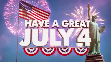 gün : Fourth of July Independence Day video animation HD