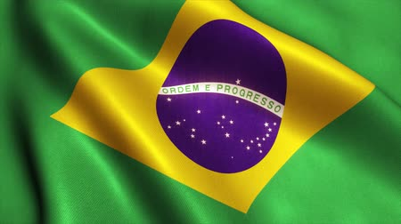 brazília : Brazil Flag. Seamless Looping Animation.