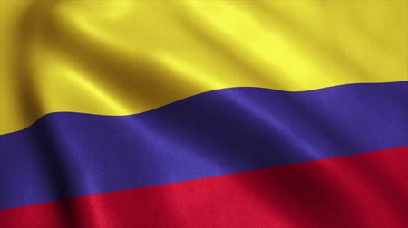 bogota : Colombia Flag. Seamless Looping Animation. 4K High Definition Video