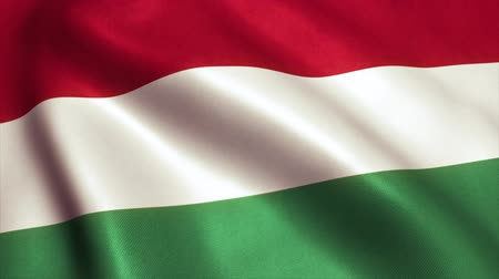 vlastenectví : Hungary Flag. Seamless Looping Animation. 4K High Definition Video