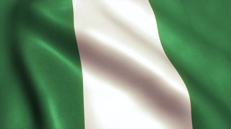 abuja : Nigeria Flag. Seamless Looping Animation. 4K High Definition Video