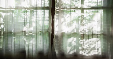 perdeler : Window curtains and shadow in natural light