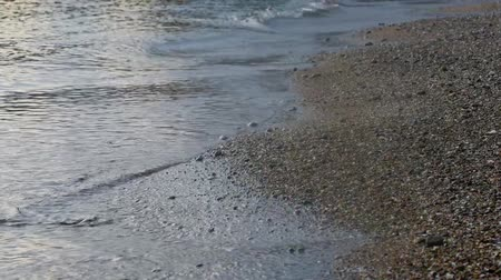 seixos : Sea Braking Against Stones And Pebbles On a Beach, Waves of Pure Water Stock Footage