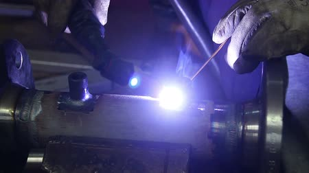 oblouk : argon arc welding, Inert gas shielded arc welding in a Workshop Dostupné videozáznamy