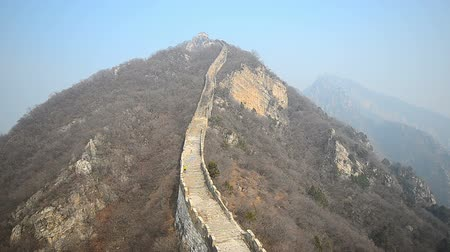 pared : la porción de la gran muralla china que no son restaurados y como es.