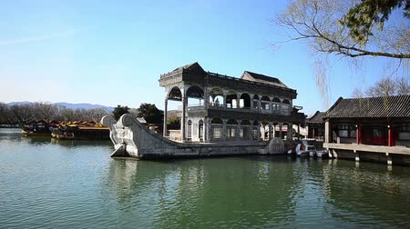 tradicional : the stone boat of summer palace Vídeos
