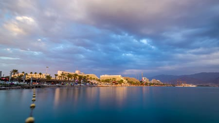 východní : Beautiful sunset over the Red Sea in Eilat, Israel, Middle East