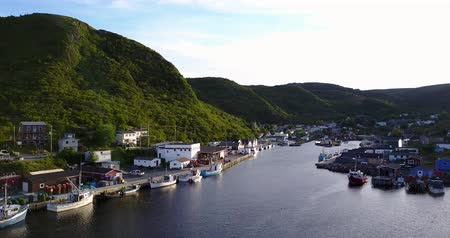 napfény : Beautiful Petty Harbor with many boats, Newfoundland and Labrador, Canada