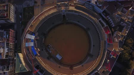 bull ring : Famous bullring stadium in Seville, Andalusia, Spain Stock Footage