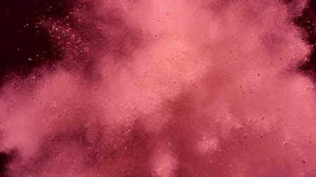 prach : Pink particles fly after being exploded, Slow Motion