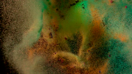 światło : Colored particles fly after being exploded, Slow Motion Wideo