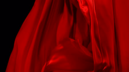 sensuous : Flowing red cloth, Slow Motion