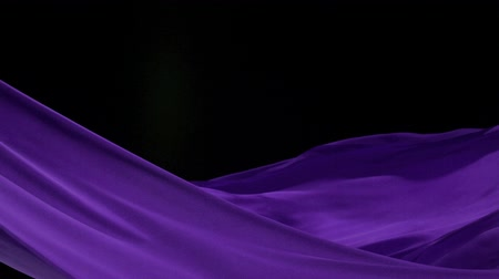 zmysłowy : Flowing purple velvet cloth, Slow Motion