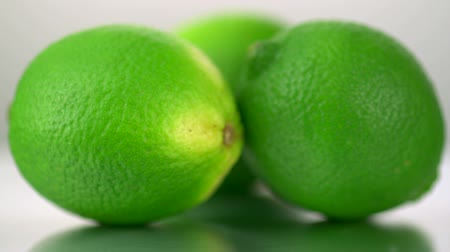 calcário : Slo-motion lime turning Stock Footage