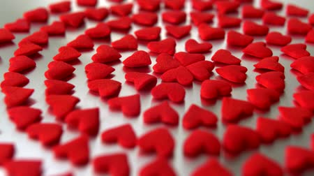 miłość : Circle of red hearts, Slow Motion Wideo