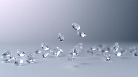 ruch : Slow-motion diamonds falling, Slow Motion