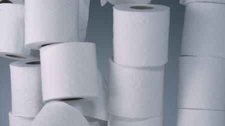 tuvalet : Stacked toilet paper roll shooting with high speed camera. Stok Video