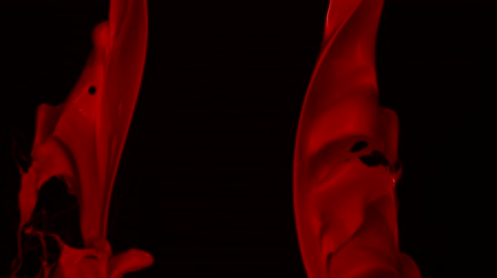 czerwone tło : Red paint splash in the air shooting with high speed camera, phantom flex. Wideo