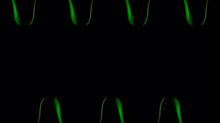 gotejamento : Green paint dripping on black background shooting with high speed camera. Stock Footage