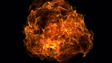 explodir : Fire ball explosion shooting with high speed camera. Stock Footage