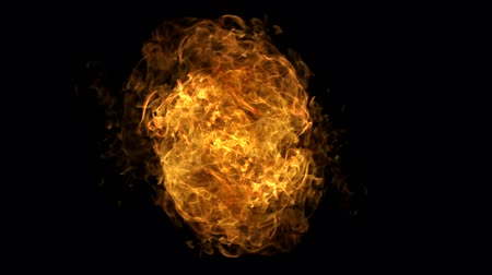 alevler : Fire ball explosion shooting with high speed camera. Stok Video