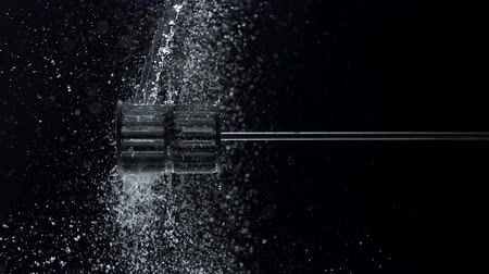 máquina : Water spun and making splash shooting with high speed camera, phantom flex. Stock Footage