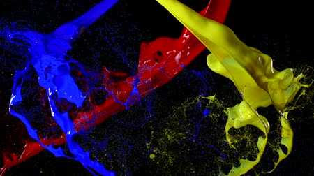 boyalar : Paint splash on black background shooting with high speed camera.