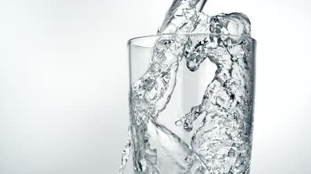 cold water : Pouring water into glass shooting with high speed camera.