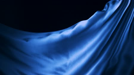 hedvábí : Blue silk fabric flying in the air shooting with a high speed camera.