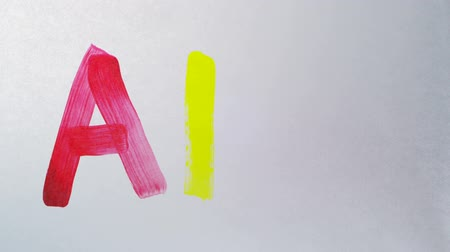 movements : Painting alphabet on white paper shooting with high speed camera, phantom flex.