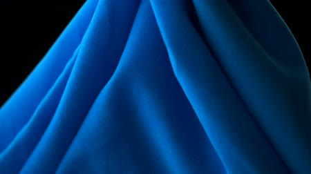 bez : Flowing blue cloth shooting with high speed camera, phantom flex. Stok Video