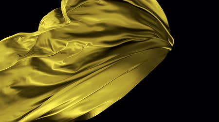 kumaş : Flowing yellow cloth shooting with high speed camera, phantom flex.
