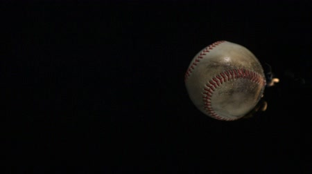 bola de fogo : Baseball on fire shooting with high speed camera, phantom flex. Stock Footage