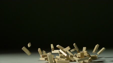 empilhamento : Dropping wood block shooting with high speed camera, phantom flex. Stock Footage