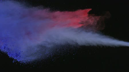 puder : Purple and red powder colliding in the air shooting with high speed camera, phantom flex. Wideo