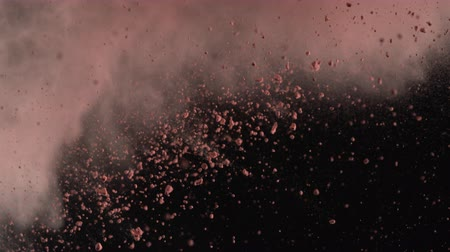 robbanás : Powder exploding against black background. Shot with high speed camera, phantom flex 4K.  Slow Motion. Unedited version is included at the end of clip.