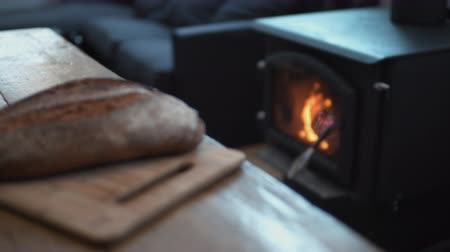 piekarz : Fireplace and bread. Shot with high speed camera, phantom flex 4K. Slow Motion.