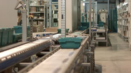 pharmaceuticals : working conveyor automated warehouse